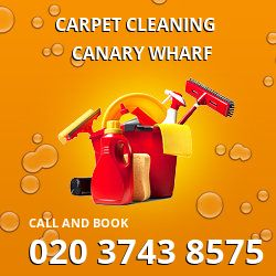 E14 carpet stain removal Canary Wharf